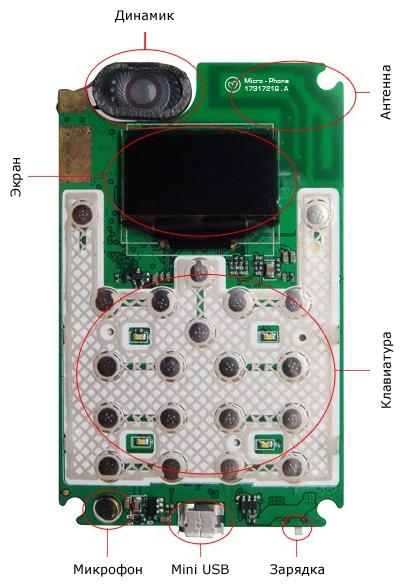 Внутреннее строение Micro-Phone